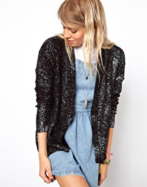 ASOS Metallic Oil Slick Cardigan $68.86
